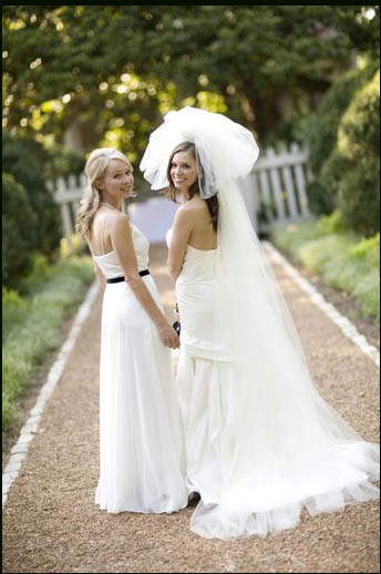 Wedding Dress Color Controversy : And the bridesmaids wore white ? rock n roll bride