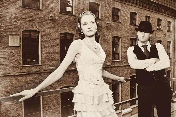 1930s Gangster Style Rock N Roll Bride