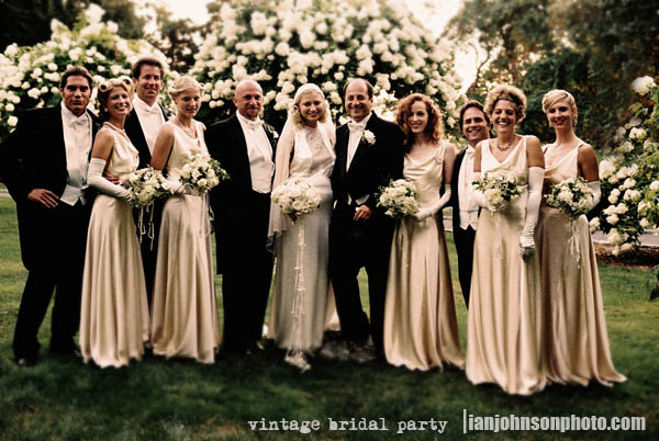 vintage bridal group shot