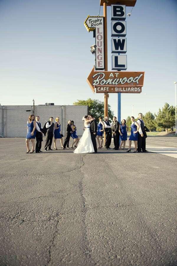 Alisha & Casey Bowling Alley Wedding · Rock n Roll Bride