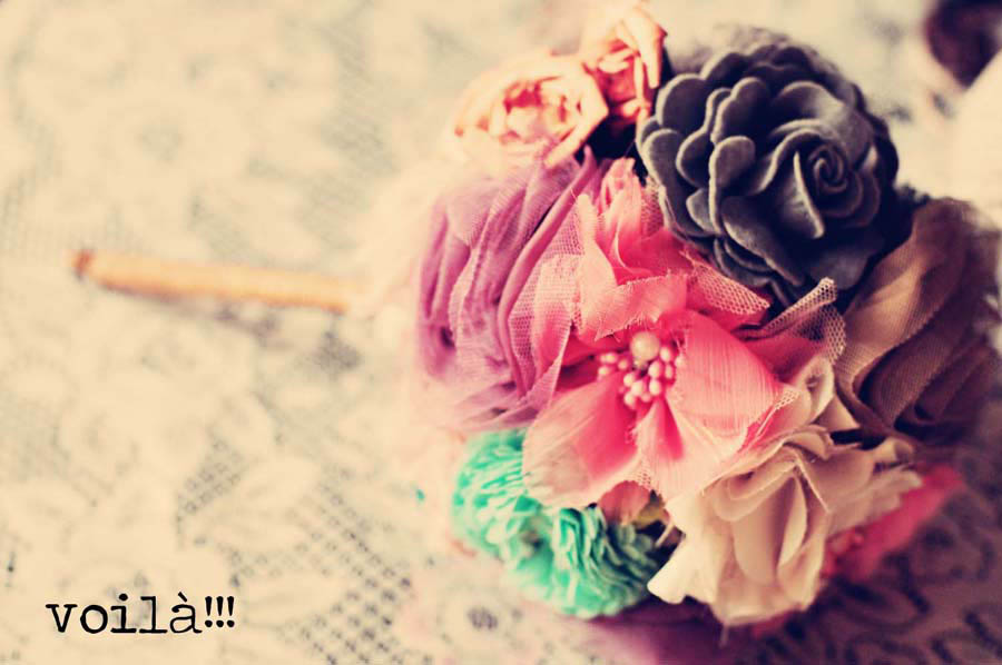 How to…Make Your Own Fabric Flower Bouquet (Tutorial by Josephine ...