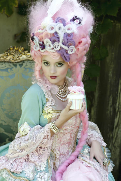 A Marie Antoinette Inspiration Rock N Roll Bride-3085