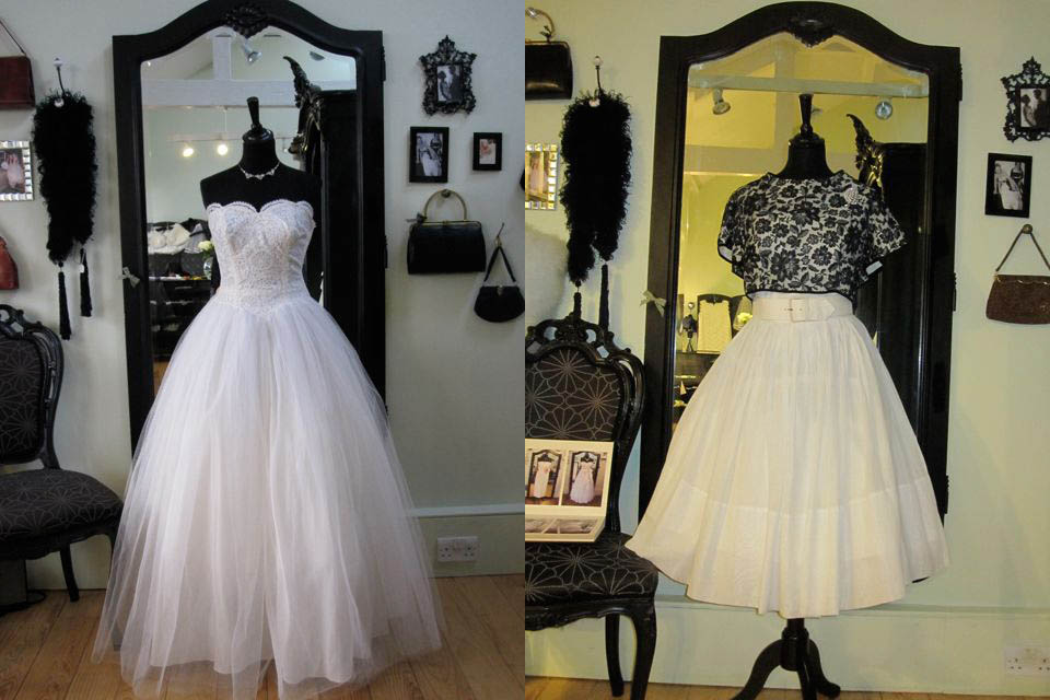 rock and roll wedding dress