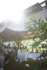 A sunny morning wedding