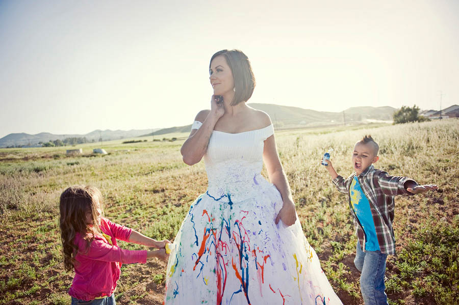 Trash the dress rock n roll bride page 2 for Paint photo shoot ideas