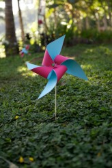 Pinwheels in the ceremony venue
