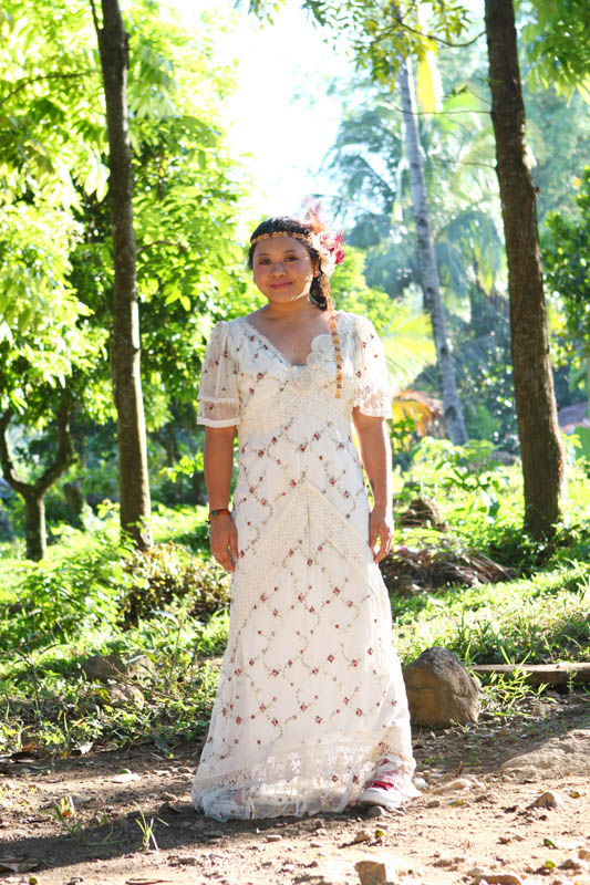 The gown was a gift from one of the principal sponsors but for Principal sponsor wedding dress