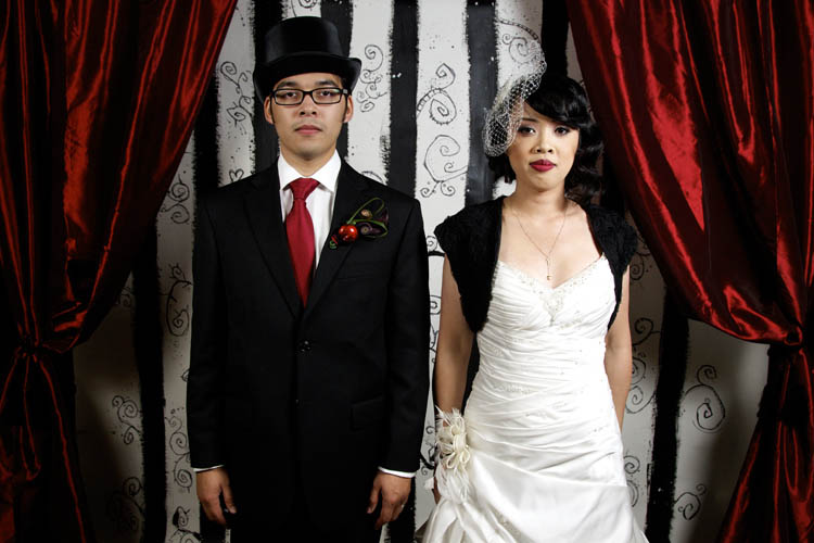 Juliana & Tony\'s Tim Burton Inspired Wedding · Rock n Roll Bride