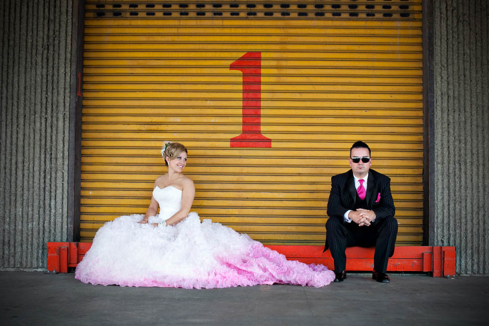 A Pink Ruffled Wedding Dress Ian Reisas Vancouver Ring
