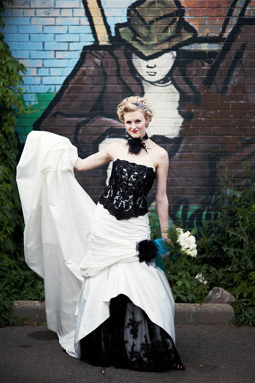 Peacock rock n roll bride for Rock n roll wedding dress