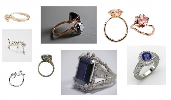 unique and rock n roll engagement rings