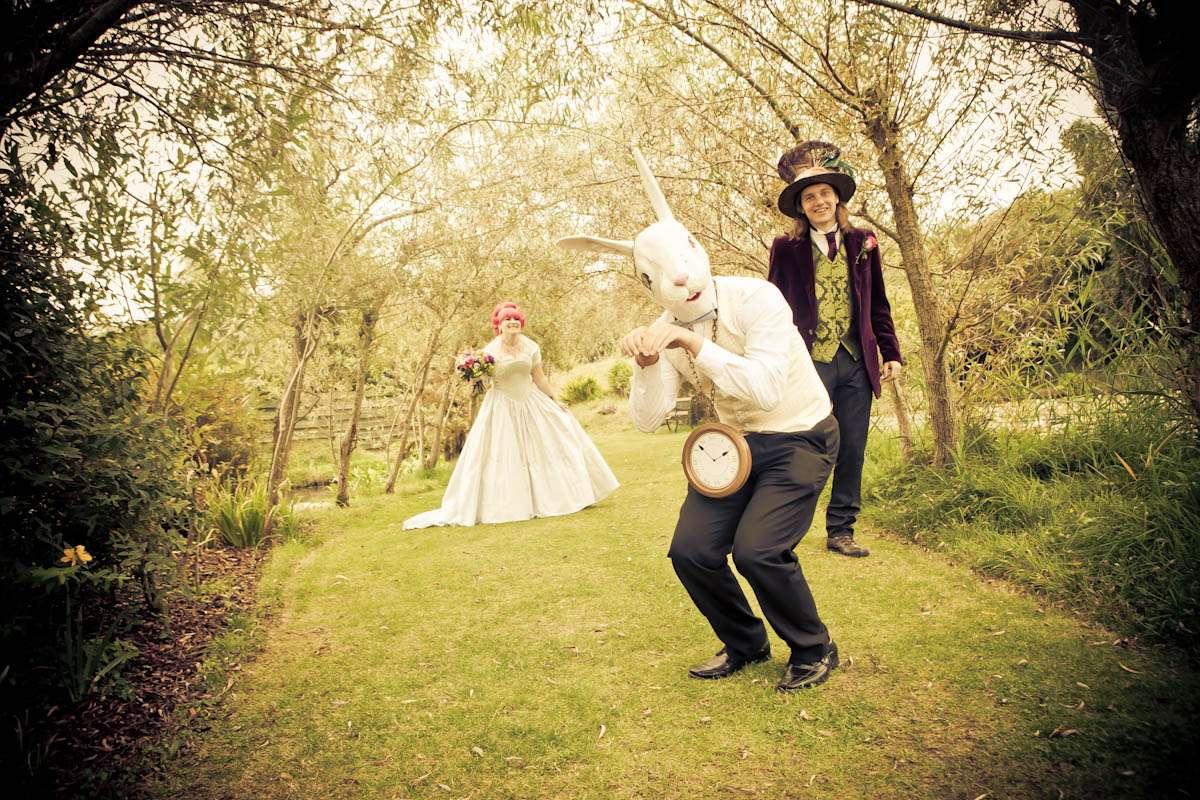 An Alice In Wonderland & Willy Wonka Themed Wedding: Aebbe