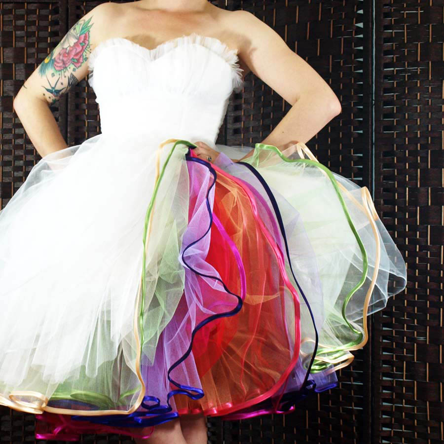 4680087985 DIY Tutorial: Multi-Layered Tulle Petticoat (Make Your Own Rainbow ...