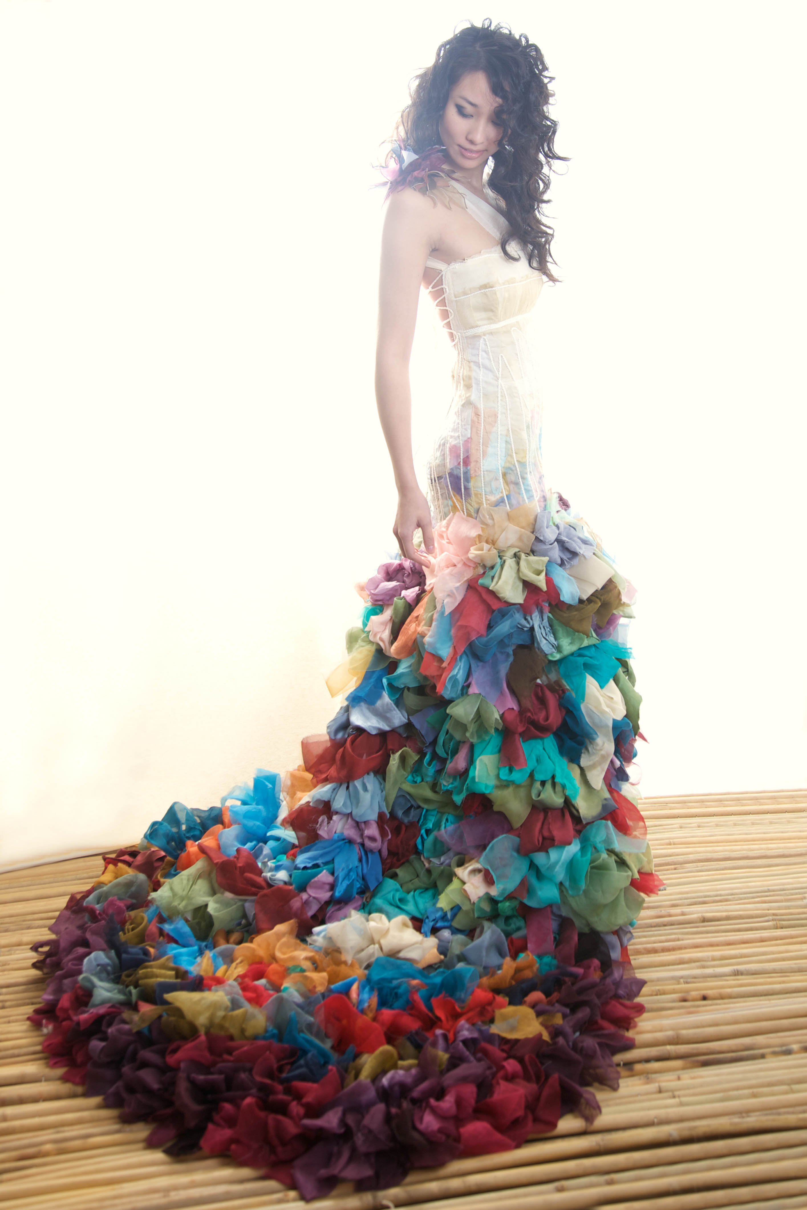 Alternative colourful wedding dresses from chrissy wai for Unusual dresses to wear to a wedding