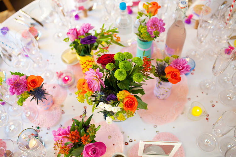 An Eclectic Amp Colourful DIY Wedding Amy Amp Andy Rock N
