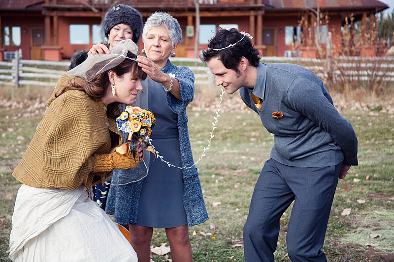 340a954397 A Party-Hard Utah Mountain Wedding with the Bride in a Romper Suit ...