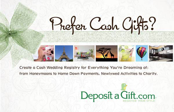 Cash Wedding Registries With Deposit A Gift Rock N Roll Bride