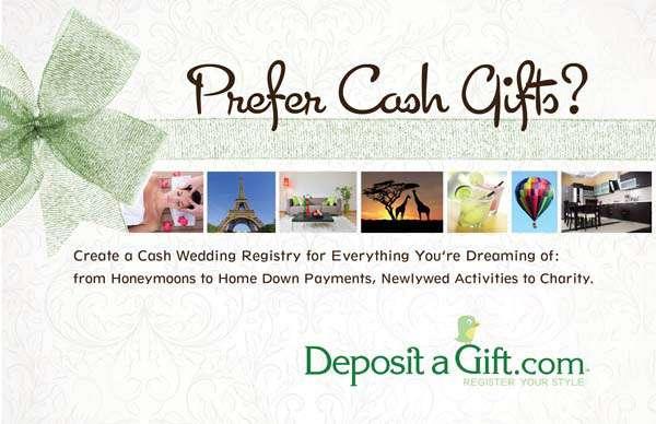 Wedding Cash Gift Registry: Cash Wedding Registries With Deposit A Gift · Rock N Roll