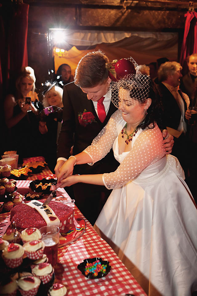 A Retro, Kitsch & Cherry-Themed Southend-on-Sea Wedding: Heidi & Jim · Rock n Roll Bride