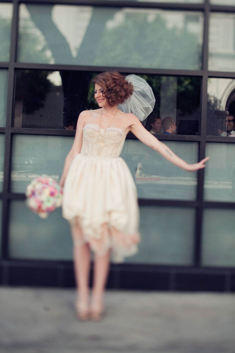 Simple upcycling ideas for your wedding dress rock n for Rock n roll wedding dress