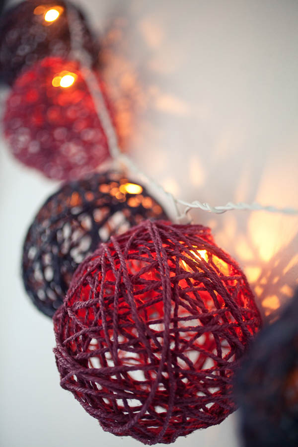 How To Make Decorative String Balls Amazing Diy Tutorial Twine Ball Light Garland · Rock N Roll Bride Design Decoration