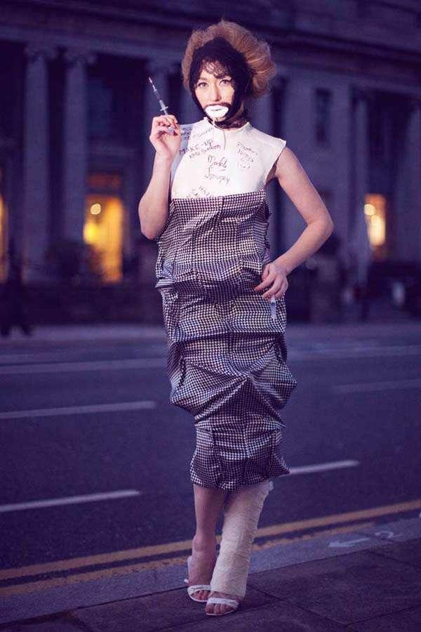 Injured Idols A Fashion Shoot For Irish Designer Claire O Connor Rock N Roll Bride