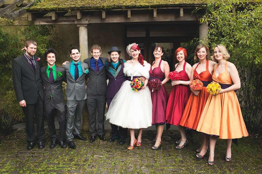 The Rainbow Wedding To End All Rainbow Weddings Jen Amp Ben