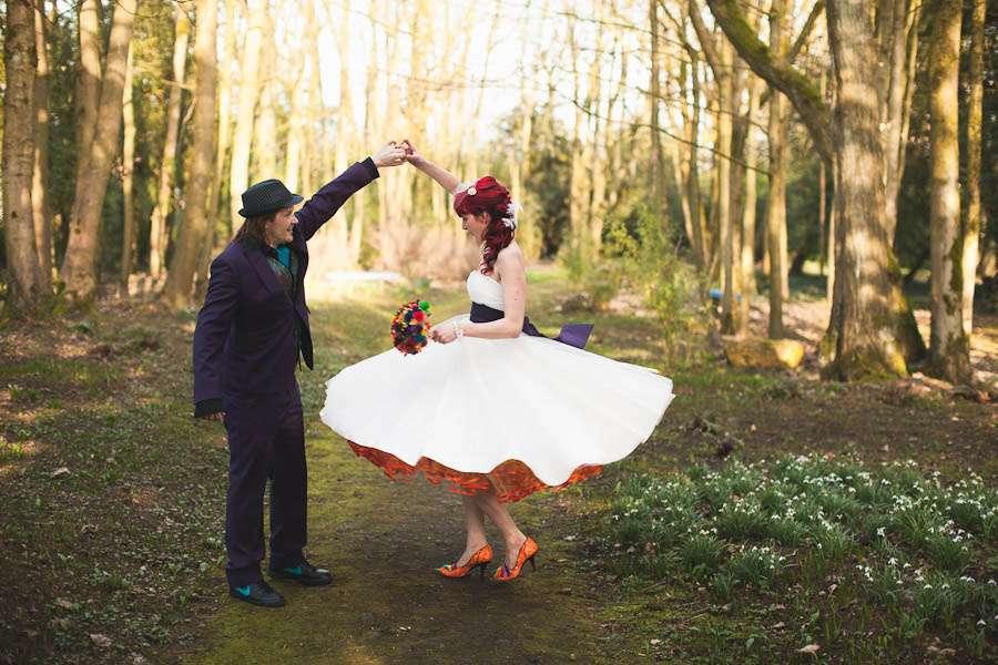 The rainbow wedding to end all rainbow weddings jen ben rock i junglespirit Image collections
