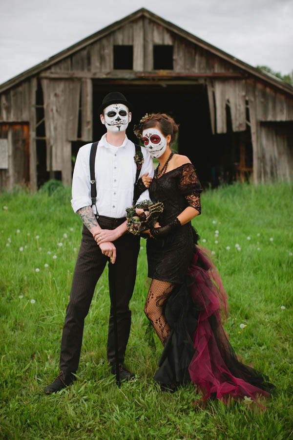 Day Of The Dead Ashley Forrette001 Rock N Roll Bride