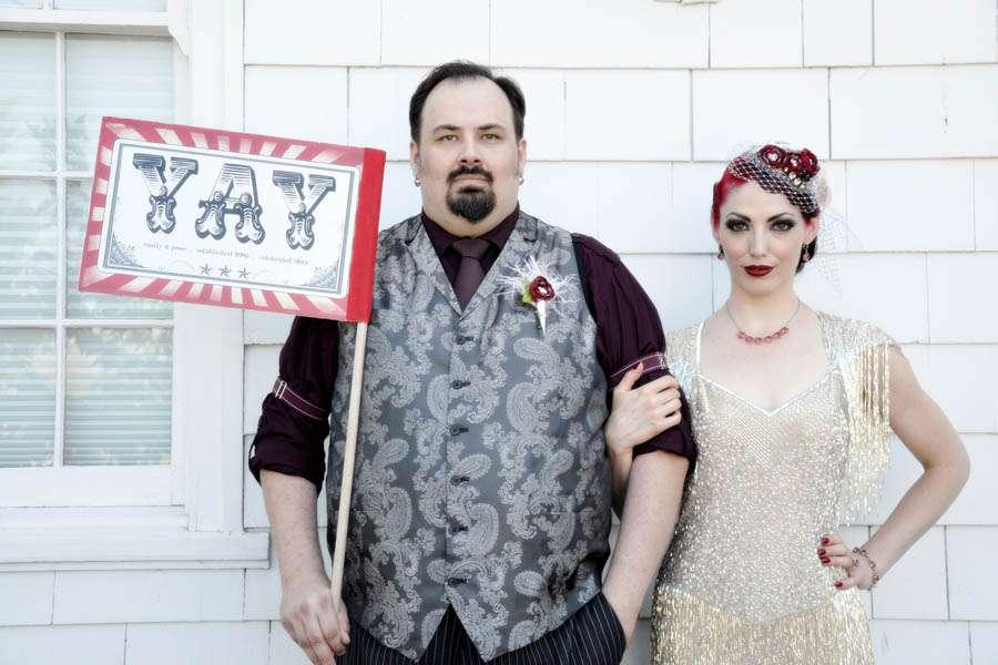 A 1920s Speakeasy Carnival Themed Wedding Emily Jesse Rock N