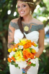 tropical themed wedding flutter glass photography11