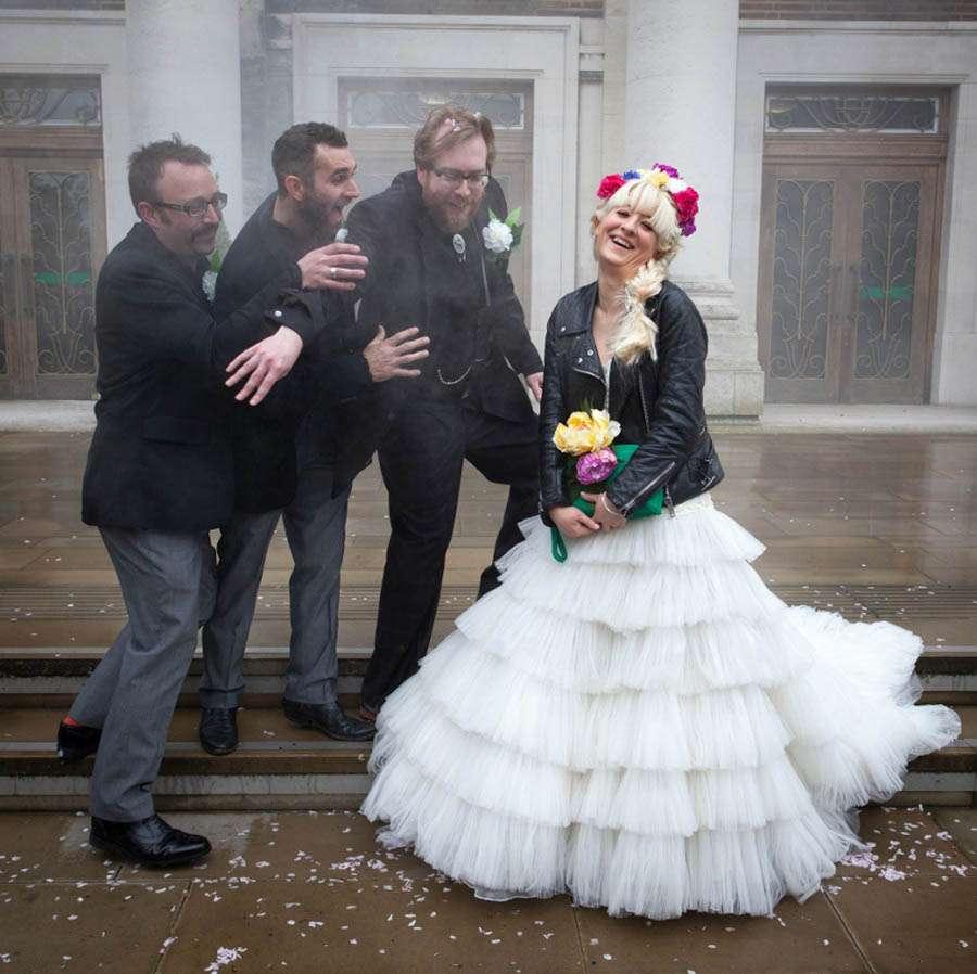 Sugar Skull Wedding Dress 34 Elegant Jess and Martin Photographer
