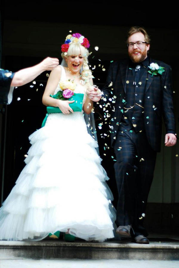 Sugar Skull Wedding Dress 57 Vintage Jess and Martin Photographer