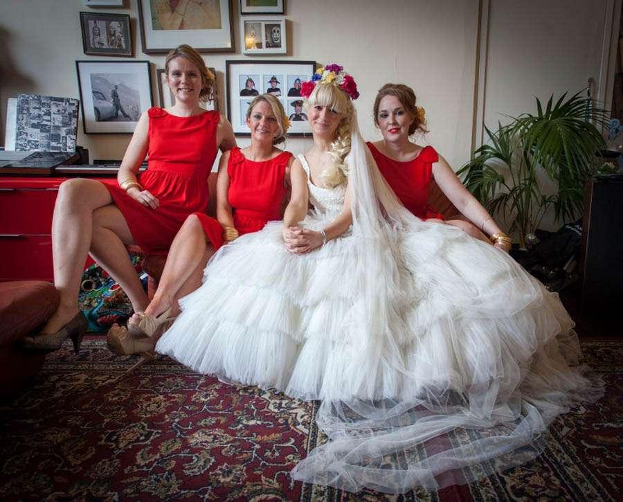 Sugar Skull Wedding Dress 46 Great Jess and Martin photographer