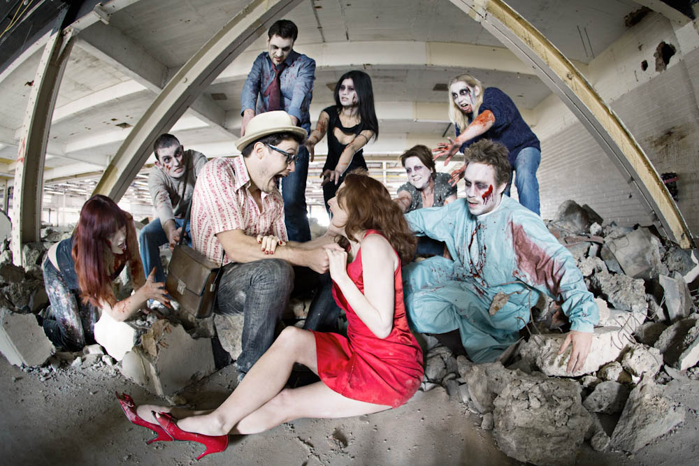 A Zombie Apocalypse Engagement Shoot Nicola Simon Rock N Roll