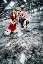 Zombie Apocalypse engagement shoot82