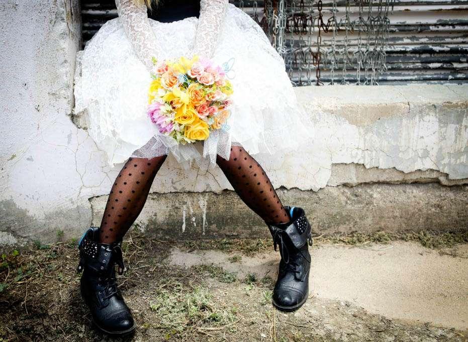Black Amp White 183 Rock N Roll Bride