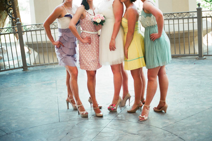 Wedding Dress For   Las Vegas : Bridal on etsy and her bridesmaids rocked their modcoth dresses with