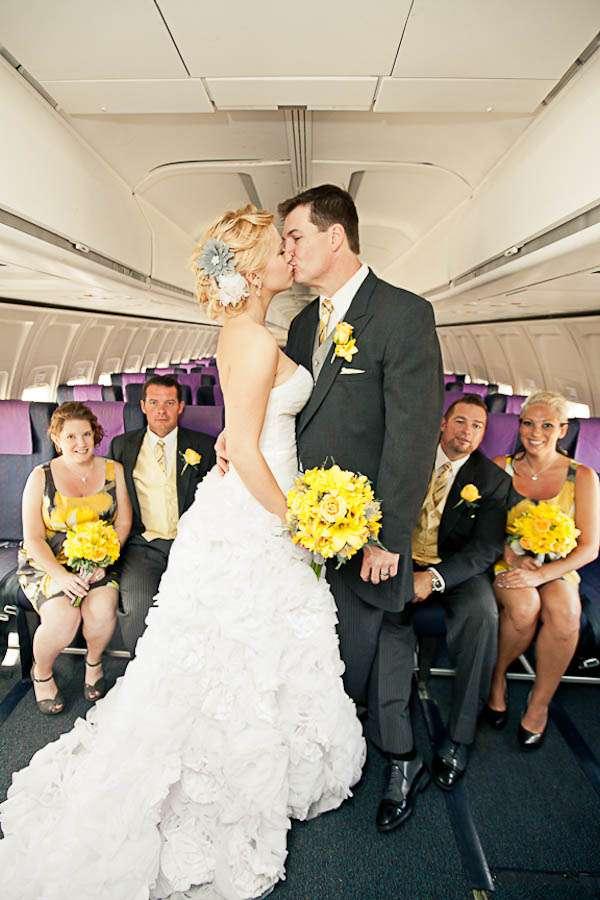 A Modern Wedding On An Aeroplane Robyn Amp Tom 183 Rock N