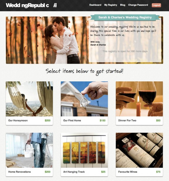 Wedding Gifts For Couples Without A Registry : Register for Wedding Gifts that Don t Suck with Wedding Republic ...