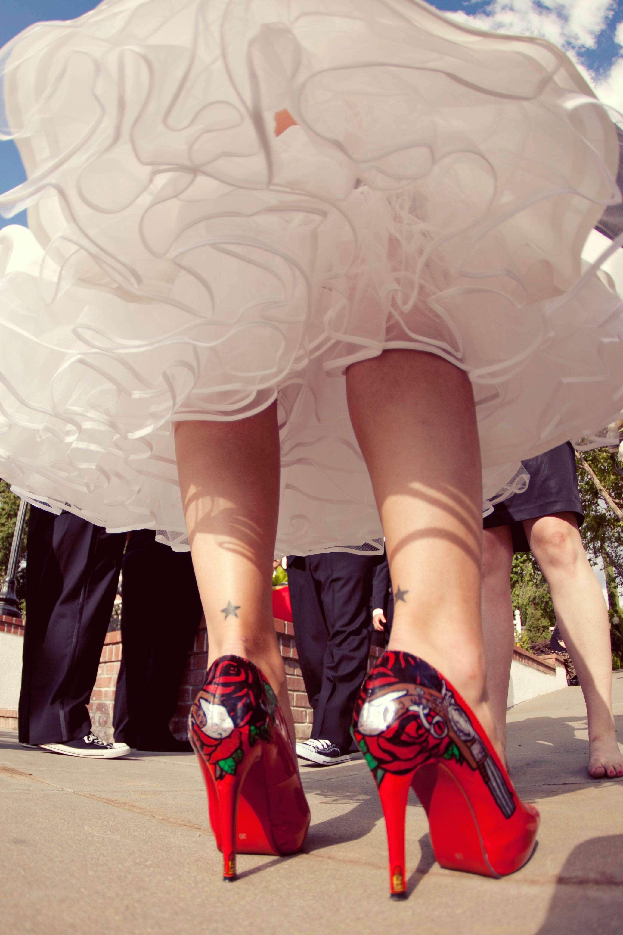 Short wedding dress Rock n Roll Bride