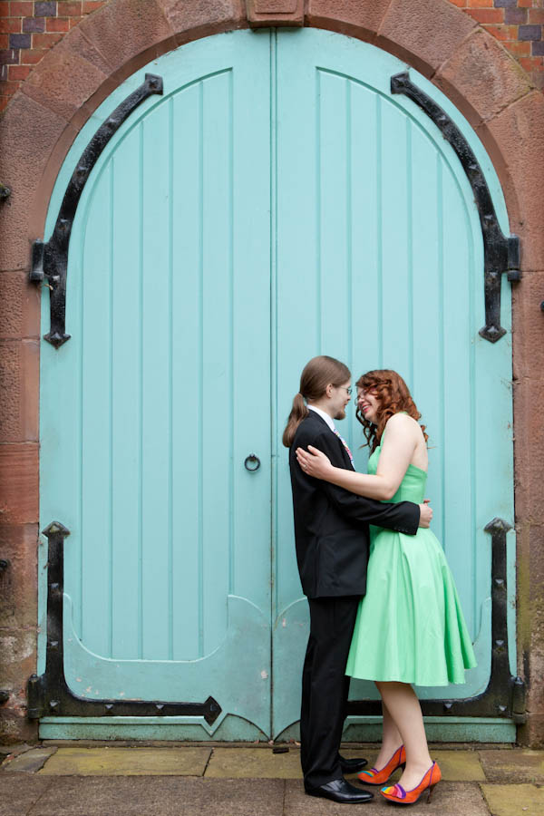 A rainbow wedding inspired by their living room ruth for Rock n roll living room