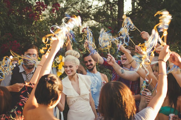 Surprise pool party wedding recreation rock n roll bride styled shoots have been wedding junglespirit Image collections