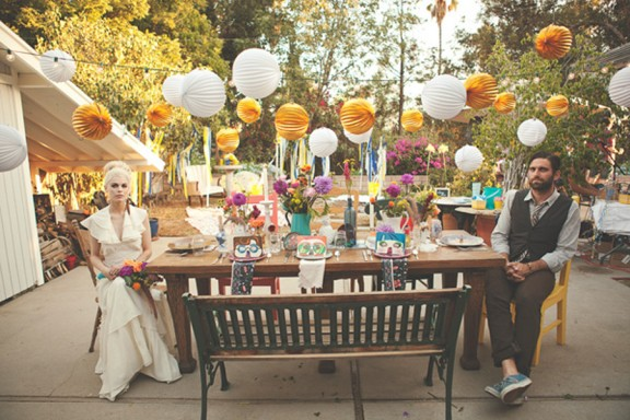 Surprise pool party wedding recreation rock n roll bride thirty junglespirit Image collections