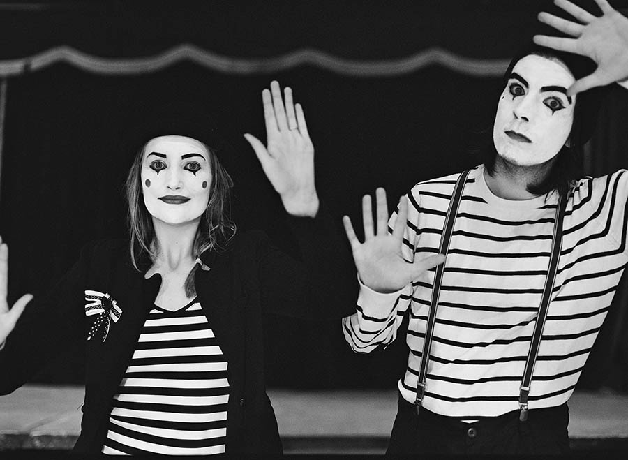 Mimes at the Circus: Neill & Niamh · Rock n Roll Bride