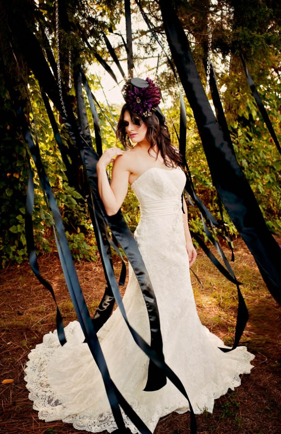 Elegant Tim Burton Inspired Wedding Inspiration Rock N Roll Bride