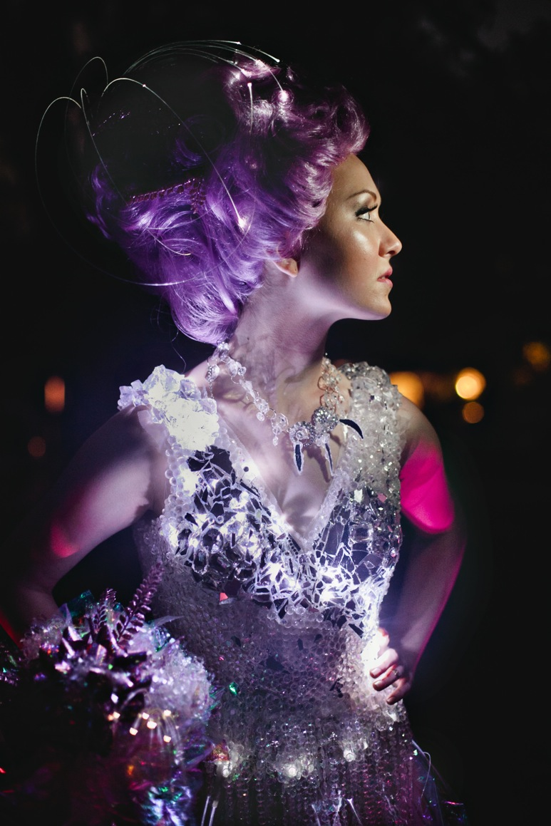 fibre optic wedding dress1