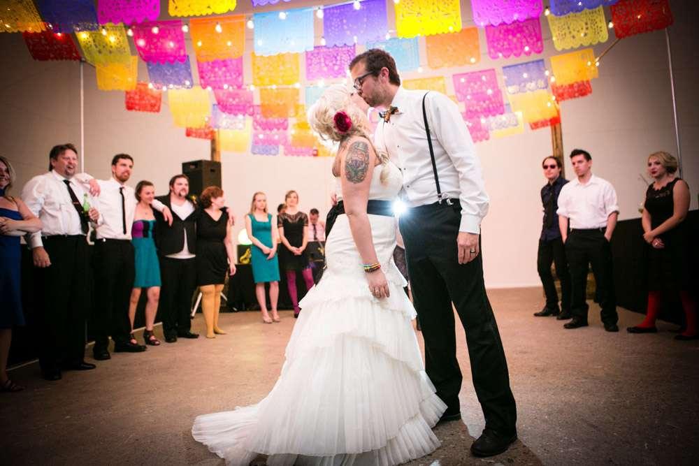 Rainbow Day Of The Dead Wedding James Amp Ashley 183 Rock N