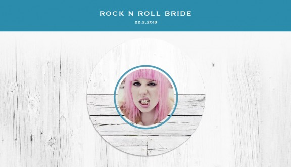 appy couple rock n roll bride