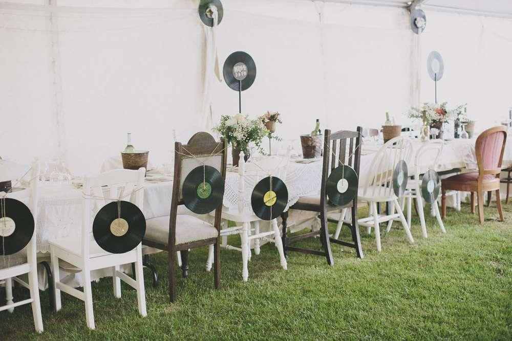 music themed backyard wedding bernadette peter rock n